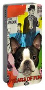 Boston Terrier Art - 30 Years Of Fun Movie Poster Portable Battery Charger