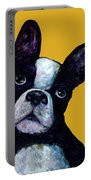 Boston Terrier On Yellow Portable Battery Charger
