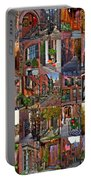 Boston Tourism Collage Portable Battery Charger