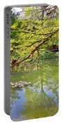 Botanical Garden Lake Spring View Portable Battery Charger