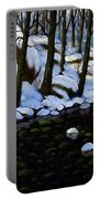 Boulder Brook In Winter Portable Battery Charger