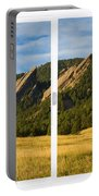 Boulder Colorado Flatirons White Window Frame Scenic View Portable Battery Charger