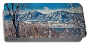 Boulder Colorado Winter Season Scenic View Portable Battery Charger