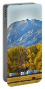 Boulder County Colorado Flatirons Autumn View Portable Battery Charger
