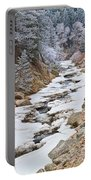 Boulder Creek Frosted Snowy Portrait View Portable Battery Charger