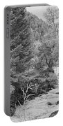 Boulder Creek Winter Wonderland Black And White Portable Battery Charger