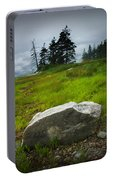 Boulder On The Shore At The Mount Desert Narrows In Maine Portable Battery Charger