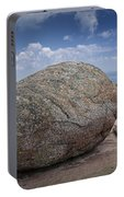 Boulder On Top Of Cadilac Mountain In Acadia National Park Portable Battery Charger