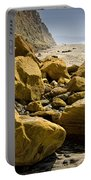 Boulders On The Beach At Torrey Pines State Beach Portable Battery Charger