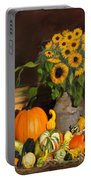 Bountiful Harvest - Floral Painting Portable Battery Charger