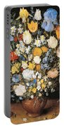 Bouquet In A Clay Vase Portable Battery Charger
