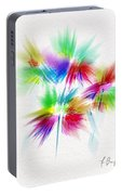 Bouquet In The Sun Abstract Portable Battery Charger