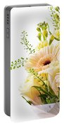 Bouquet Of Flowers On White Background Portable Battery Charger