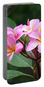 Bouquet Of Pink Plumeria Portable Battery Charger