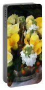 Bouquet With Roses And Calla Lilies Portable Battery Charger
