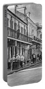Bourbon Street Afternoon - Paint Bw Portable Battery Charger