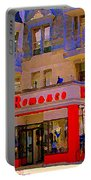 Boutique Erotique Romance Mont Royal The Love You Make Is Equal To The Love You Take City Scene Art Portable Battery Charger
