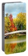 Bow Bridge Autumn In Central Park  Portable Battery Charger