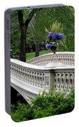 Bow Bridge Flower Pots - Central Park N Y C Portable Battery Charger