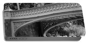 Bow Bridge Texture Bw Portable Battery Charger