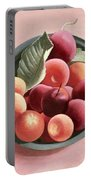 Bowl Of Fruit Portable Battery Charger by Tomar Levine