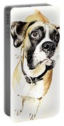 Boxer Dog Poster Portable Battery Charger