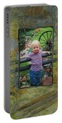 Boy By Fence Portable Battery Charger