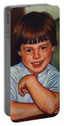 Boy In Blue Shirt Portable Battery Charger