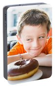 Boy With Donut Portable Battery Charger
