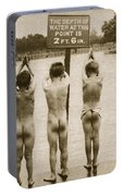 Boys Bathing In The Park Clapham Portable Battery Charger