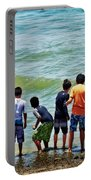 Boys On The Beach Portable Battery Charger