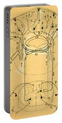 Brain Vestibular Sensor Connections By Cajal 1899 Portable Battery Charger