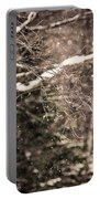 Branch In Forest In Winter Portable Battery Charger