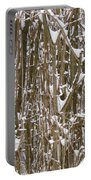 Branches And Twigs Covered In Fresh Snow Portable Battery Charger
