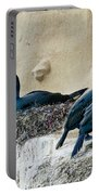 Brandts Cormorant Nesting On Cliff Portable Battery Charger