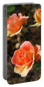 Brass Band Roses In Autumn Portable Battery Charger