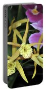 Brassolaelia Yellow Bird And Pink Miltoniopsis  Portable Battery Charger