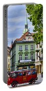 Bratislava Town Square Portable Battery Charger by Jon Berghoff