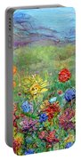 Brazen Blooms Print Option 2 Portable Battery Charger