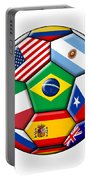 Brazil 2014 - Soccer With Various Flags Portable Battery Charger