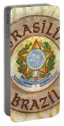 Brazil Coat Of Arms Portable Battery Charger