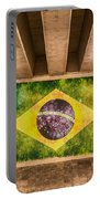 Brazilian Flag Portable Battery Charger