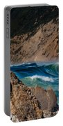 Breakers At Pt Reyes Portable Battery Charger by Bill Gallagher