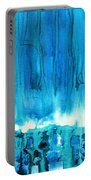 Breakers Off Point Reyes Original Painting Portable Battery Charger
