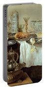Breakfast Still Life Portable Battery Charger by Willem Claesz Heda