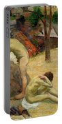 Breton Boys Bathing Portable Battery Charger by Paul Gauguin