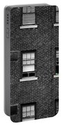 Brick Wall And Windows Portable Battery Charger