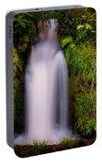Bridal Dress. Waterfall At Benmore Botanical Garden. Nature Of Scotland Portable Battery Charger