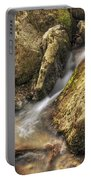 Bridal Veil Stream And Mossy Rocks - Heber Springs Arkansas Portable Battery Charger