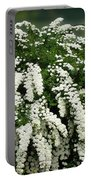 Bridal Wreath Spirea - White Flowers - Florist Portable Battery Charger